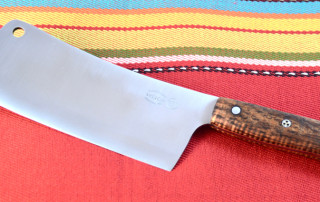 Custom cleaver in Hawaiian koa wood w/ stainless pins.