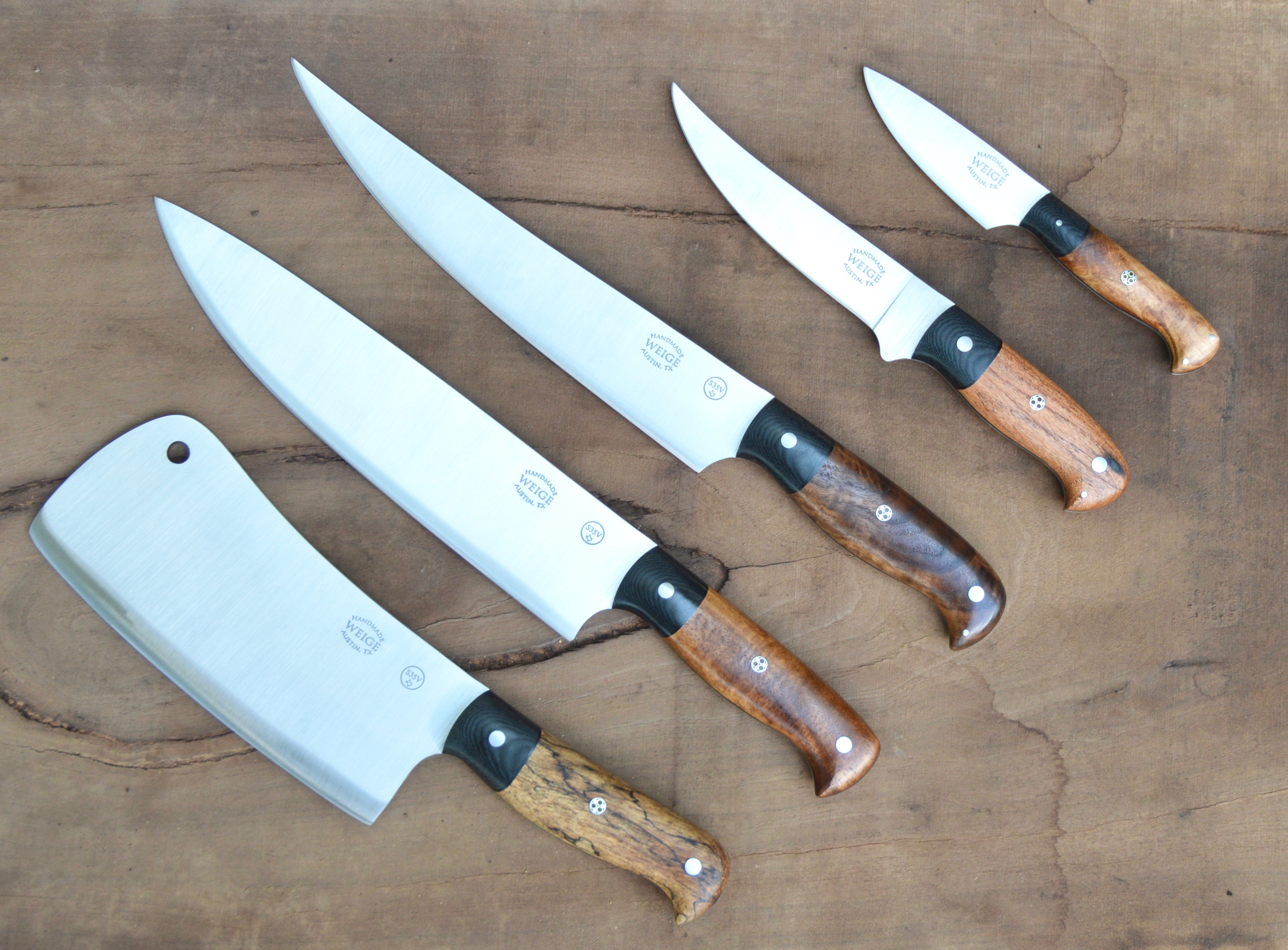 home weige knives custom chef knives great set of custom knives completed